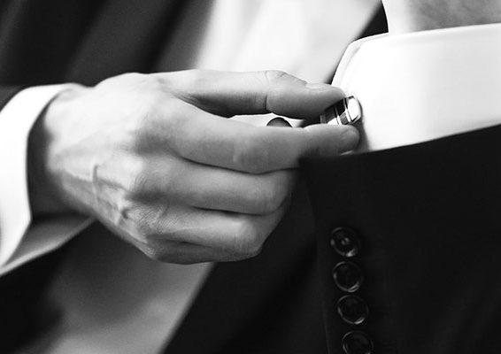 Confident Man Buttons Cufflinks.