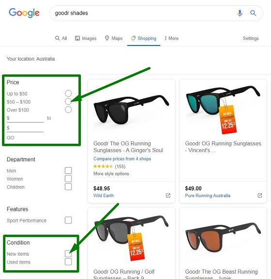Google Shopping Example
