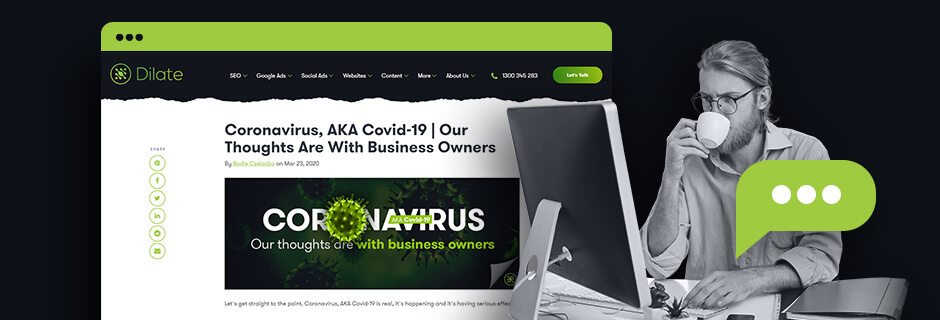Create A Webpage About COVID-19