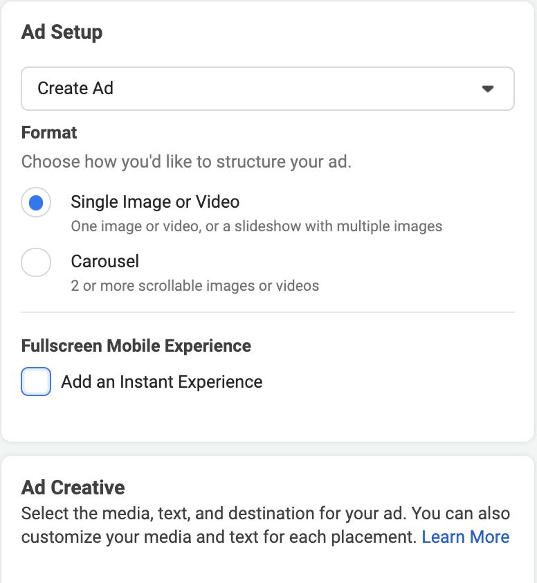Facebook Ads Setup